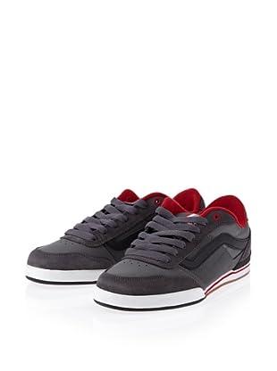 Vans Wylie pewter/black/red VKYG5U3 - Zapatillas de ante para hombre (Gris)