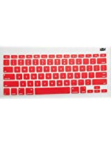 Yashi Laptop Keyboard Protector Cover RED colour - Silicone Rubber for Apple MacBook 13.3 Pro Retina Display with model no. A1425 & A1502