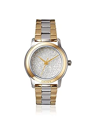 DKNY Women's NY8777 Silver/Gold Pavé Crystal Stainless Steel Watch