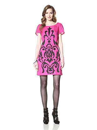 Miss Sixty Women's Harlow Shift with Appliqué (Hot Pink)