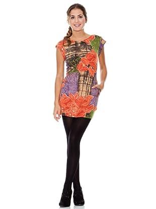 LAVAND Vestido Hoja (Morado / Coral)