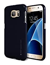 Galaxy S7 Case, [Ultra Slim Fit] Goospery® i-Jelly Case [Metallic Finish] Premium TPU Case Cover [Anti-Yellowing / Discoloring Finish] for Samsung Galaxy S7 - Metallic Black Navy