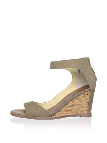 Matt Bernson Women's Charles Ankle Strap Wedge (Olive)
