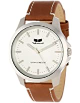 Vestal Unisex Her3L03 Heirloom Stainless Steel Watch With Brown Leather Band - Her3L03