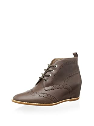 Matiko Women's Rhea Wedge Lace-Up Boot (Brown)