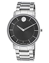 Movado Tc Thin Analogue Black Dial Men's Watch - 606687