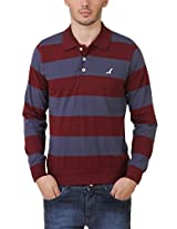American Crew Men's Cotton Blend Polo T-Shirt(AC089FS-X_Multicolor_XL)