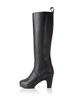 Swedish Hasbeens Women's Knee-High Jodhpur (Black/black)