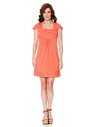 Cortefiel Kleid Stickerei (Koralle)