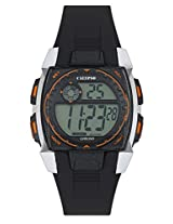 Calypso Black PU Digital Men Watch K5619 4