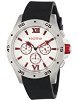 red line Men's RL-60028 Chronograph Silver Dial Black Textured Silicone Watch