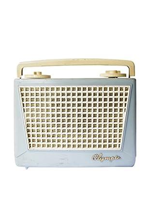 1960s Vintage Olympic Radio, Blue/Cream