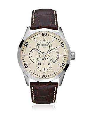 Guess Reloj de cuarzo Man Plateado 46 mm