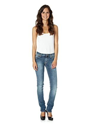Nudie Jeans Co Jeans Tight Long John Worn Shady (Blau)