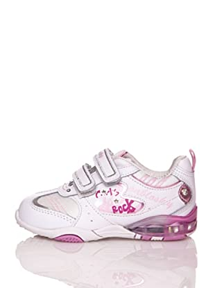 Pablosky Sneaker Rock Light (Weiß/Rosa)