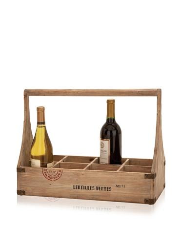 Industrial Chic Wooden Wine Basket