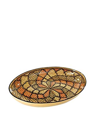 Le Souk Ceramique Honey Poultry Platter, Honey/Brown