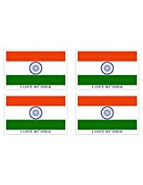 BikenWear BW491 Indain Flag Sticker (Set of 4)