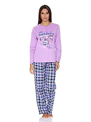 Bluedreams Pijama Punto Liso (Malva)