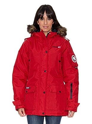Geographical Norway Abrigo Bugsy Lady Long Basic (P) (Rojo)