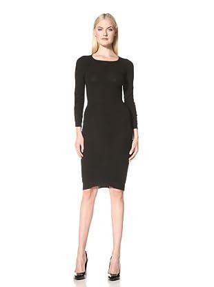 Christian Siriano Women's Sweater Dress (Black)