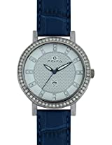 Maxima Swarovski Analog White Dial Women's Watch - 32041LMLI