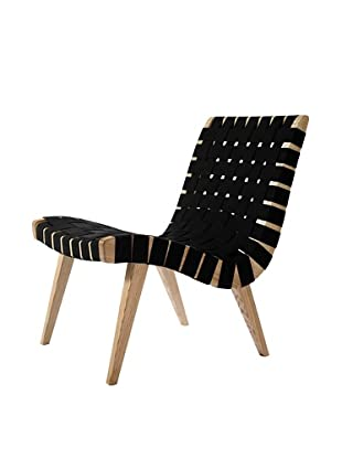 Euro Home Collection Weave Chair, Maple/Black