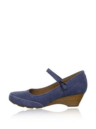 Clarks Zapatos con cuña (Azul marino)