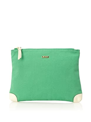 gorjana Women's Chandler Large Pouch (Kelly Green/Off White)