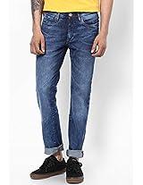 Blue Slim Fit Jeans Allen Solly