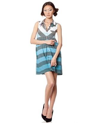 Custo Vestido Trao (Azul / Gris)