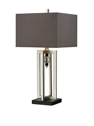Artisitic Lighting Table Lamp, Silver Leaf, Black