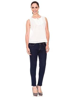 Cortefiel Push-Up-Jeans (Blau)