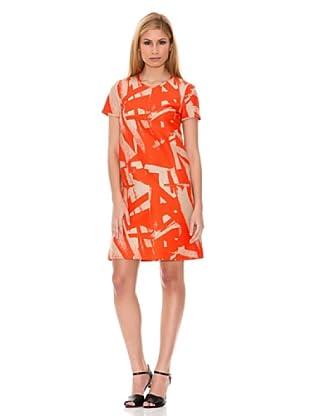 Hugo Boss Vestido Dacile2 (Naranja / Beige)