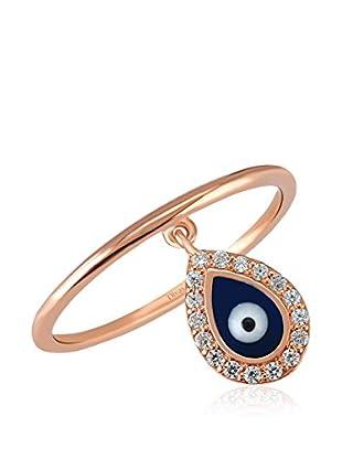 Divas Diamond Anillo Good Luck Eye Gemstone (Oro)