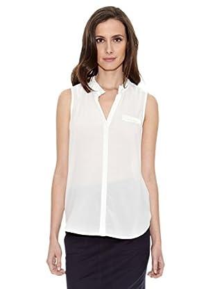 Cortefiel Camiseta Ribetes (Crudo)
