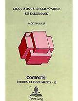 Linguistique Synchronique de L'Allemand (Contacts)