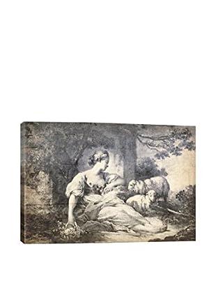 A Shepherdess V Gallery Wrapped Canvas Print