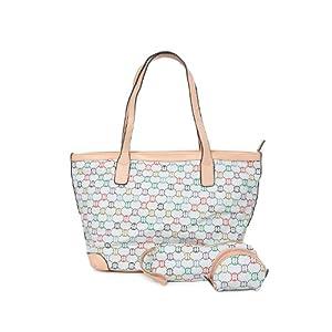 Kiara Grey Printed Handbag