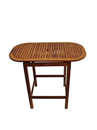 Outdoor Interiors Eucalyptus Pub Table, Brown