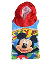Sassoon Disney Mickey Printed Cotton Ponch - Multicolor