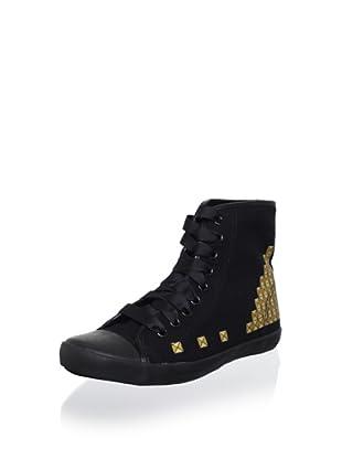 Be&D Women's Studded Sneaker (Black/Gold)