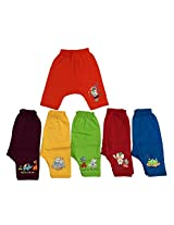 Zero Baby Diaper Leggings (Pack Of 6) (Red Blue Yellow_3-6 Months)