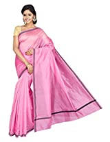 Korni Cotton Silk Banarasi Saree TF-1035- Pink KR0424