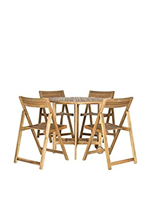 Safavieh Kerman Table & 4 Chairs, Teak Look