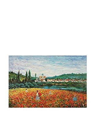Arte Dal Mondo Pintura al Óleo sobre Lienzo Monet Campo Di Papaveri