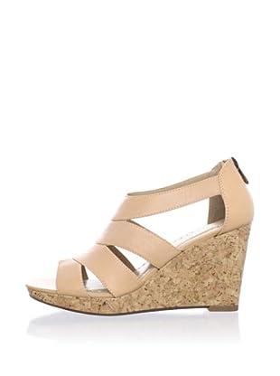 Adrienne Vittadini Women's Cate Platform Sandal (Natural)