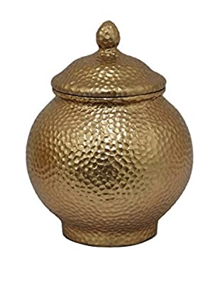 Three Hands Resin Covered Gold Jar