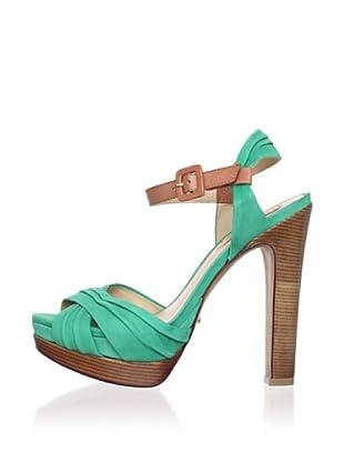 Schutz Women's Ruched Sandal (Pomelo/Argila)