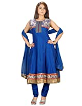Sanskruti Creations Women's Anarkali Suit (SA-533_Blue_Large)
